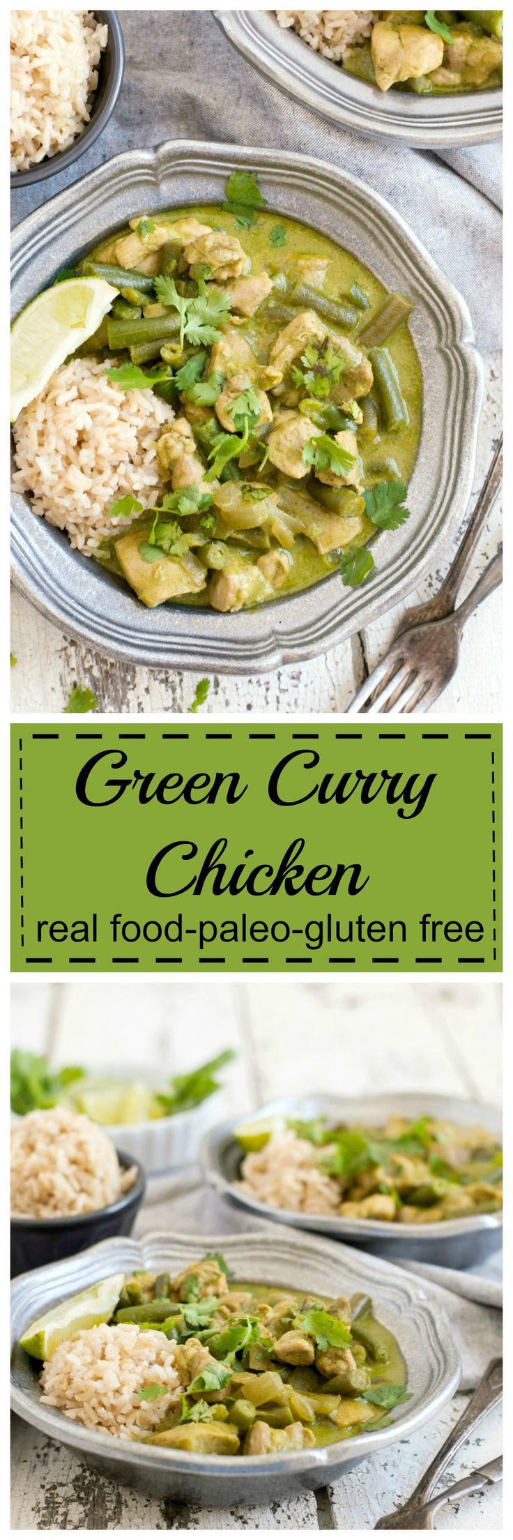 While on vacation I discovered a delicious curry dish that I wanted to recreate. After some experimenting, I came up with this Green Curry Chicken.