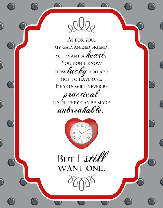 Our newest poster — Wizard of Oz Tinman quote poster 11 x 14 by silentlyscreaming on Etsy