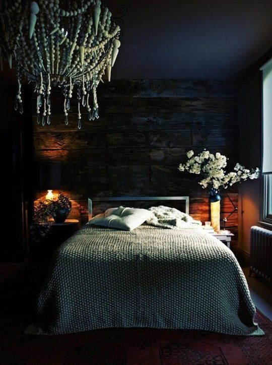 Moody Cool: A Gallery of Dark Bedrooms