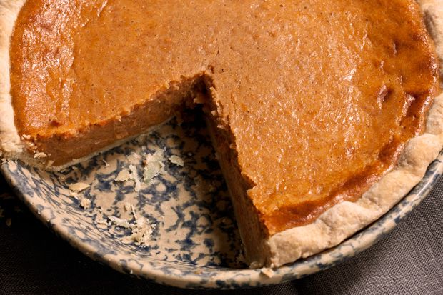 Sweet Potato Pie - This sweet potato pie, a cousin of pumpkin pie, is filled with a sweet custard made from mashed sweet potatoes, warm spices, sweetened condensed milk, eggs, and vanilla.