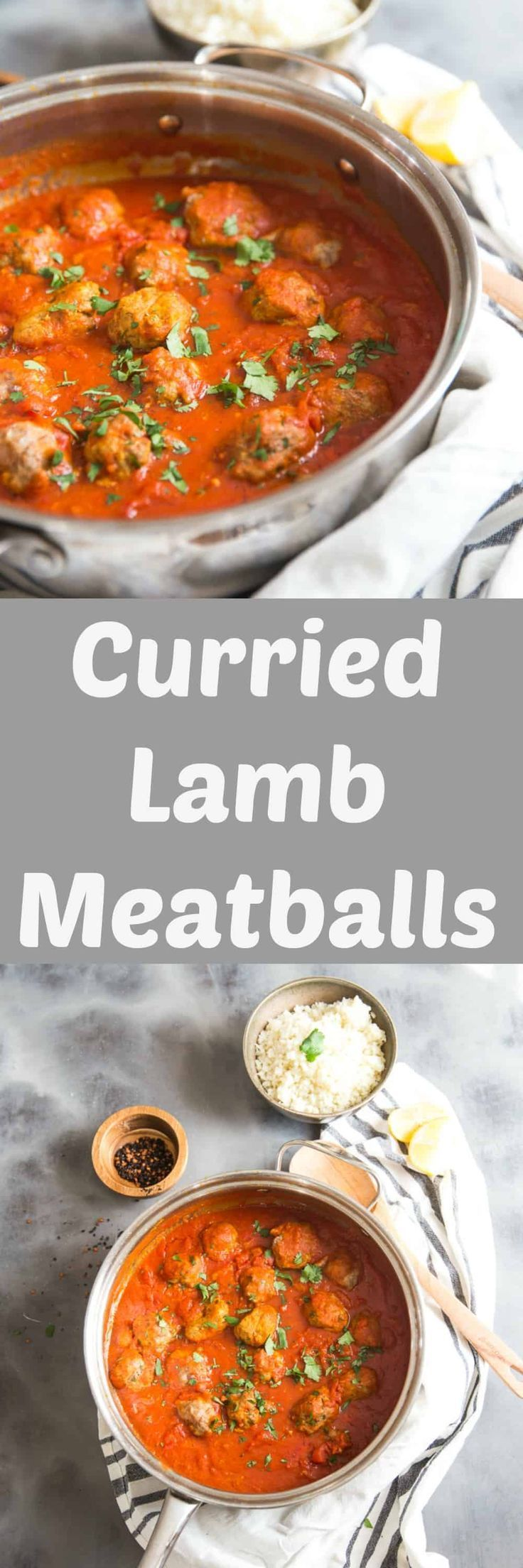 Lamb meatballs are a different kind of way to enjoy curry. The meatballs are made with lamb and turkey and seasoned with curry seasoning. The meatballsare simmered in a spiced tomato sauce to complete the meal! via @Lemonsforlulu