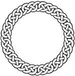circular knot......Circular Knots - As the name suggests, these knots are in circular shape emphasizing the continuity of life or eternity. Some interpret it as standing for infinite quality of some object or attribute, whereas others consider it as emphasizing the 'endless' quality. It is for this reason that this Celtic knot is very commonly seen in wedding rings or other gifts exchanged between lovers that emphasizes the endless nature of their emotions for each other.