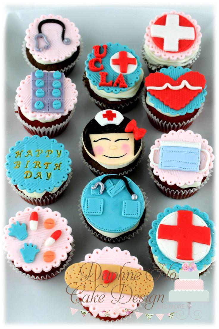 Cake Decorating Nurses Theme : Nurse cupcakes Cakes Pinterest