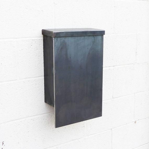 The Andover Mailbox Steel Modern Metal Letter Box Contemporary Metal Post Box Wall Mount Post Box Wall Mounted Metal Letters Mounted Mailbox