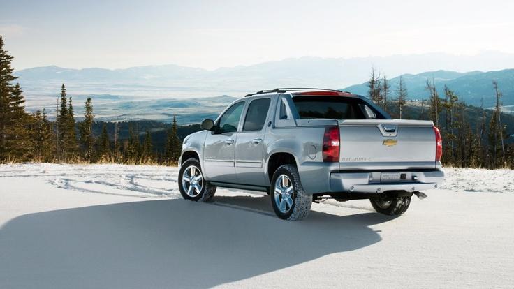 The 2013 Chevy Black Diamond Avalanche SUV truck in Silver Ice Metallic. My Truck!!!