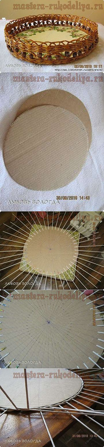 Мастер-класс по плетению из газет: Как сделать дно для круглого поднос | ПЛЕТЕНИЕ ИЗ ГАЗЕТ,БУМАГИ,КВИЛИНГ | Постила: