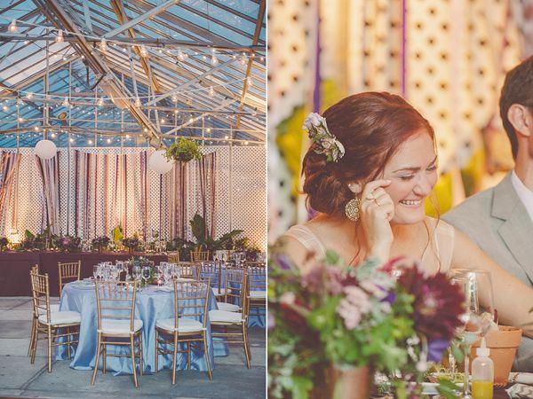 Purple Wedding at Philadelphia Horticultural Center