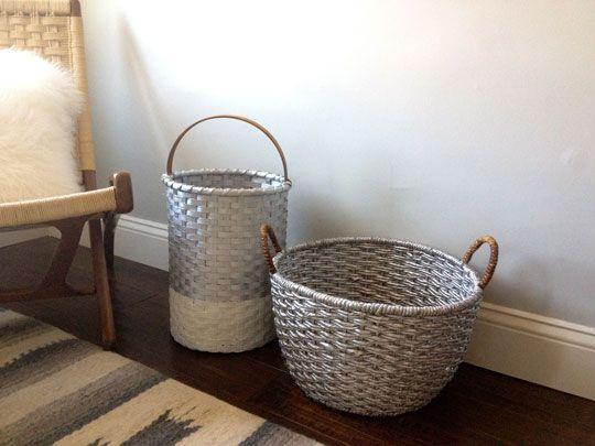I Tried It: DIY Painted Metallic Baskets
