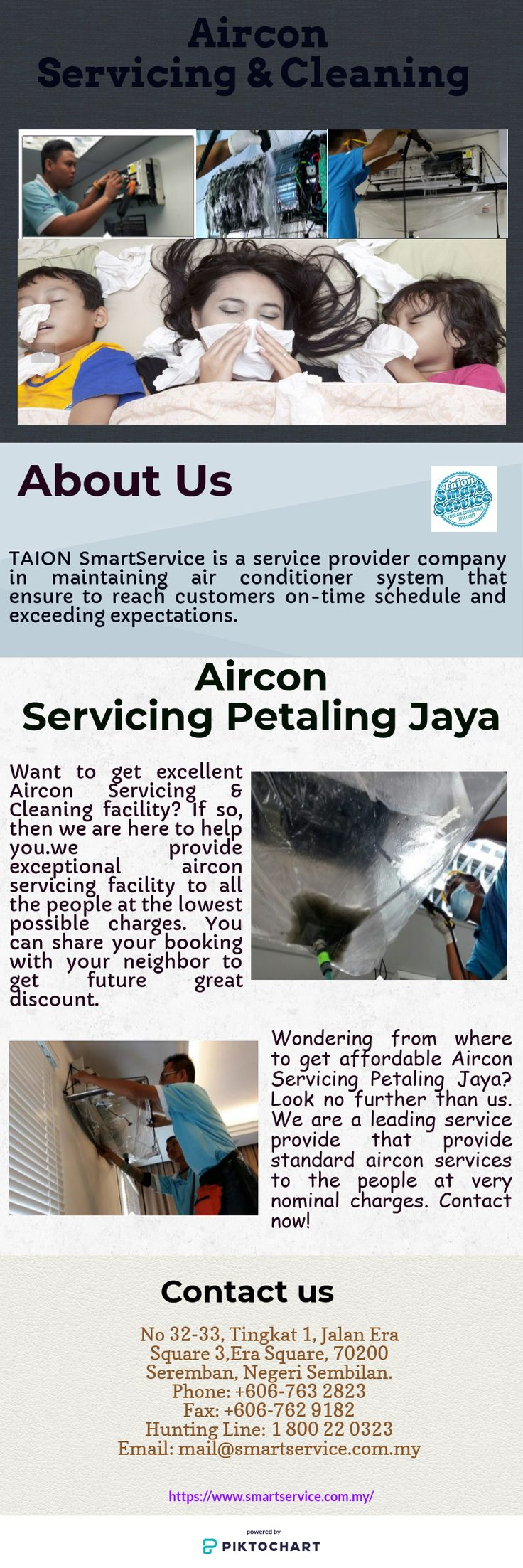 Wondering from where to get affordable Aircon Servicing Petaling Jaya? Look no further than us. We are a leading service provide that provide standard aircon services to the people at very nominal charges. Contact now!