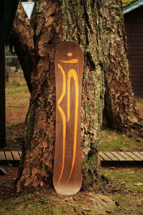 Snowboard  Custom Handmade Wooden  for men women by KindredCustom, $600.00