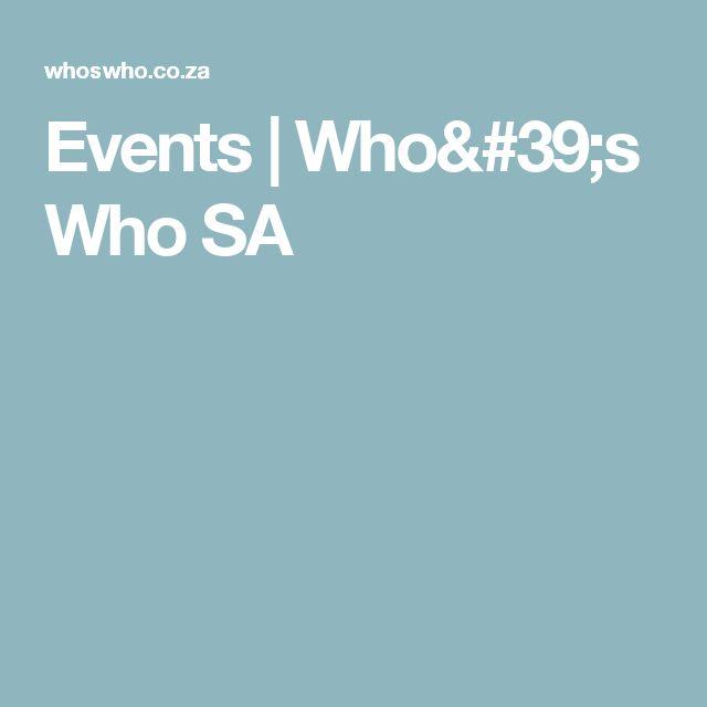 Events | Who's Who SA