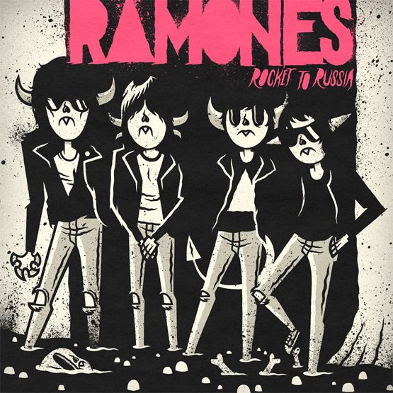 RAMONES - ROCKET TO RUSSIA | Illustrator: Daniel Bressett - http://clearlywrong.tumblr.com