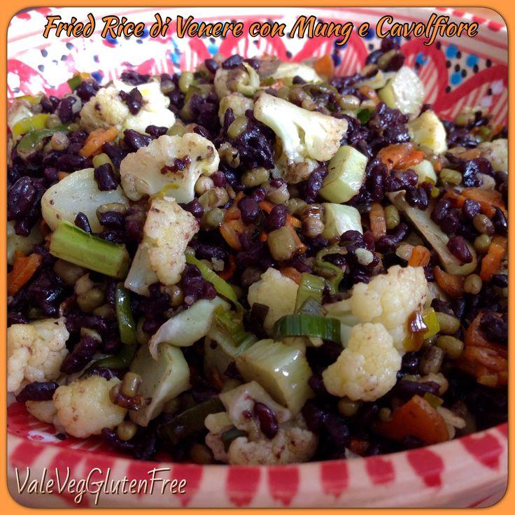 Venus fried rice with mung beans and cauliflower / Riso fritto di Venere con fagioli mung e cavolfiore