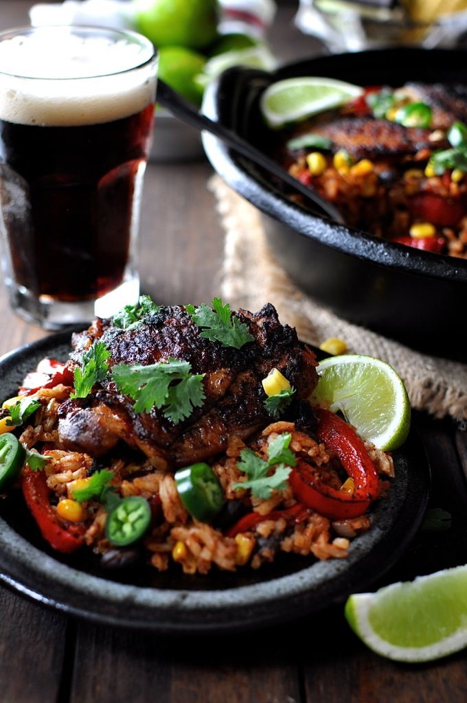 One Pot Mexican Chicken and Rice - A flavor explosion in one bowl! Crispy chicken with Fajita seasoning & Mexican spiced rice, made from scratch.