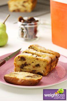 Healthy Cakes Recipes: Pear and Date Cake. #HealthyRecipes #DietRecipes #WeightlossRecipes weightloss.com.au