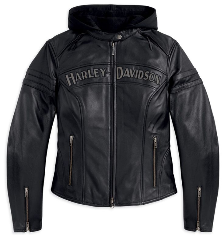 Womens Harley Davidson Miss Enthusiast 3-in-1 Leather Jacket 98030-12VW.... Love this one! So hard to find though! The stores only usually carry one one with the stupid skull on the back not the Harley Davidson logo