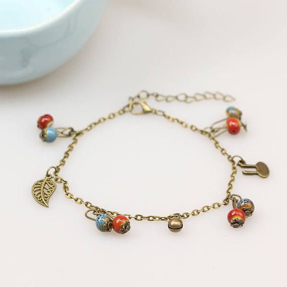 ankle plated online in charm uae bracelet buy girl anklet women shop misc foot lucky bead gold products for beauty jewelry chain