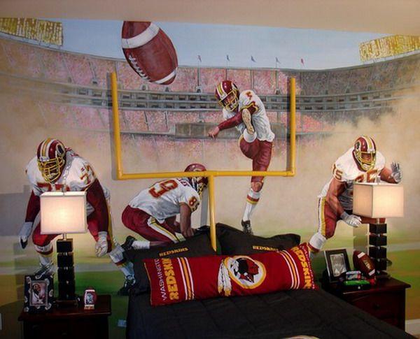 Great Football Kids Bedroom Murals Inspirations