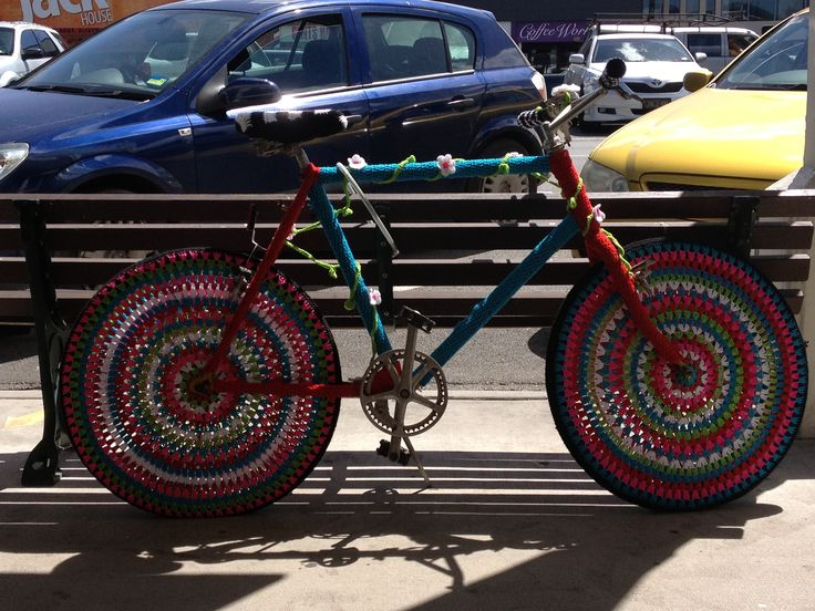 Crochet bike thanks to one of our wonderful customers..