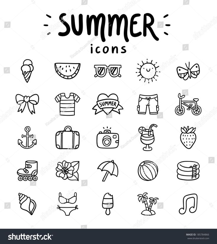 stock-vector-set-of-vector-outlined-summer-icons-185784866.jpg 1.425×1.600 pixels