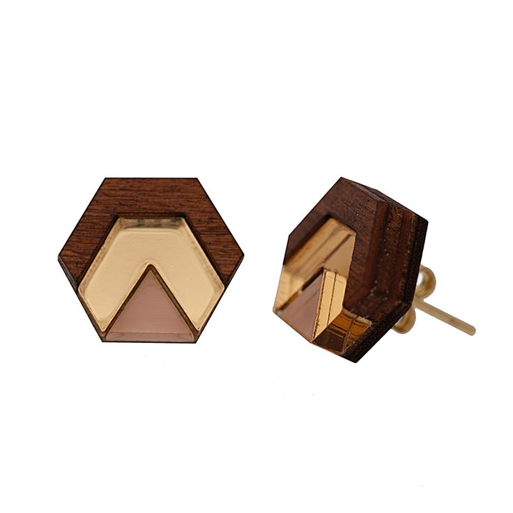 These Hex Stud Earrings are a perfect gift for someone looking to add some modern pieces into their jewellery collection. Inspired by art deco and geometric shapes, these earrings are crafted from acrylic and hand painted wood. Their neutral colour means they can be worn with almost any outfit and makeup look. The earrings measure at 1.25cm in width and have gold plated earring posts so they can be worn on a daily basis.