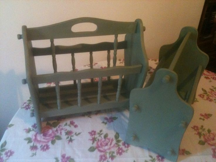 Shabby Chic Magazine Rack - Annie Sloan painted and waxed items | eBay