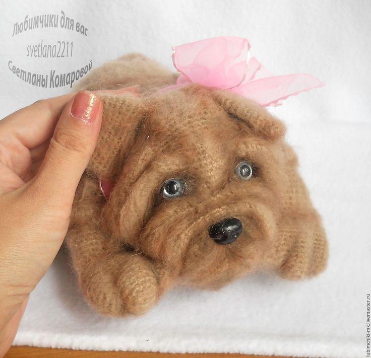 Купить Шарпей - комбинированный, Светлана Комарова, МК по вязанию, вязаная игрушка, собака игрушка