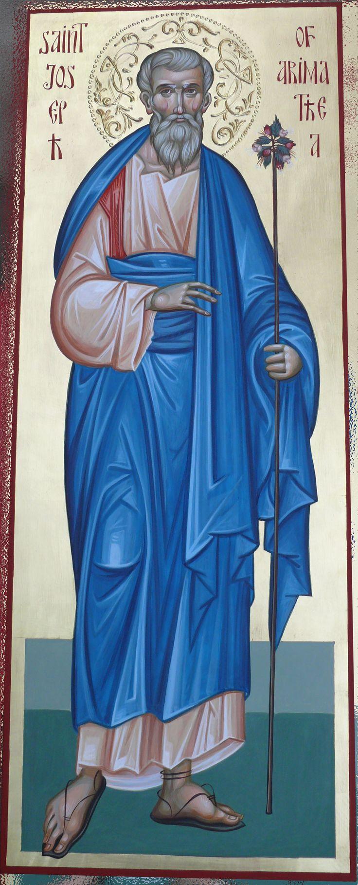 St Joseph of Arimathea icon hand painted by Georgi Chimev