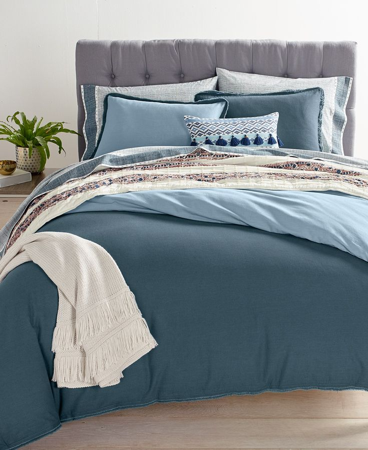 Whim by Martha Stewart Collection Reversible Steel Blue Comforter Sets, Created for Macy's - Martha Stewart Collection - Bed & Bath - Macy's