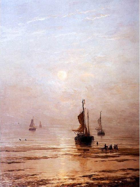 Hendrik Willem Mesdag (1831-1915) Zomerse avond bij ondergaande zon.