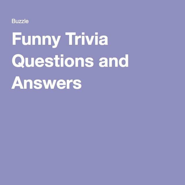 Best 20+ Trivia Questions Ideas On Pinterest