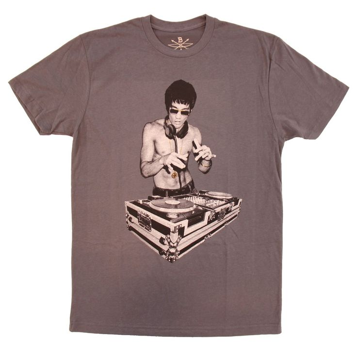 Bruce Lee DJ Avengers Age of Ultron Adult Charcoal T-Shirt