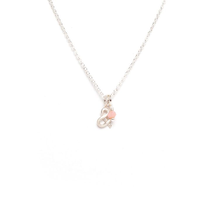 Ampersand Sterling Silver Pendant with Gemstone Necklace by Marmalade Design