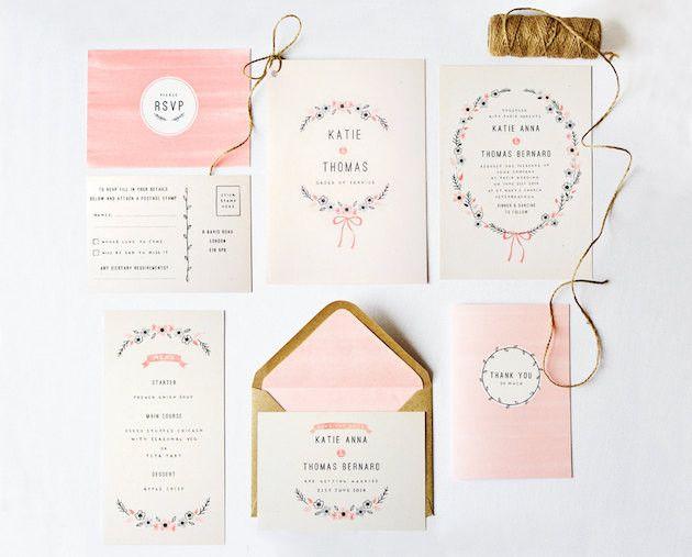 Etsy wedding stationery Bridal Musings Wedding Blog