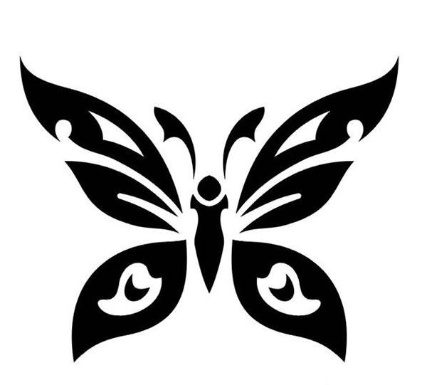 butterfly ink pattern