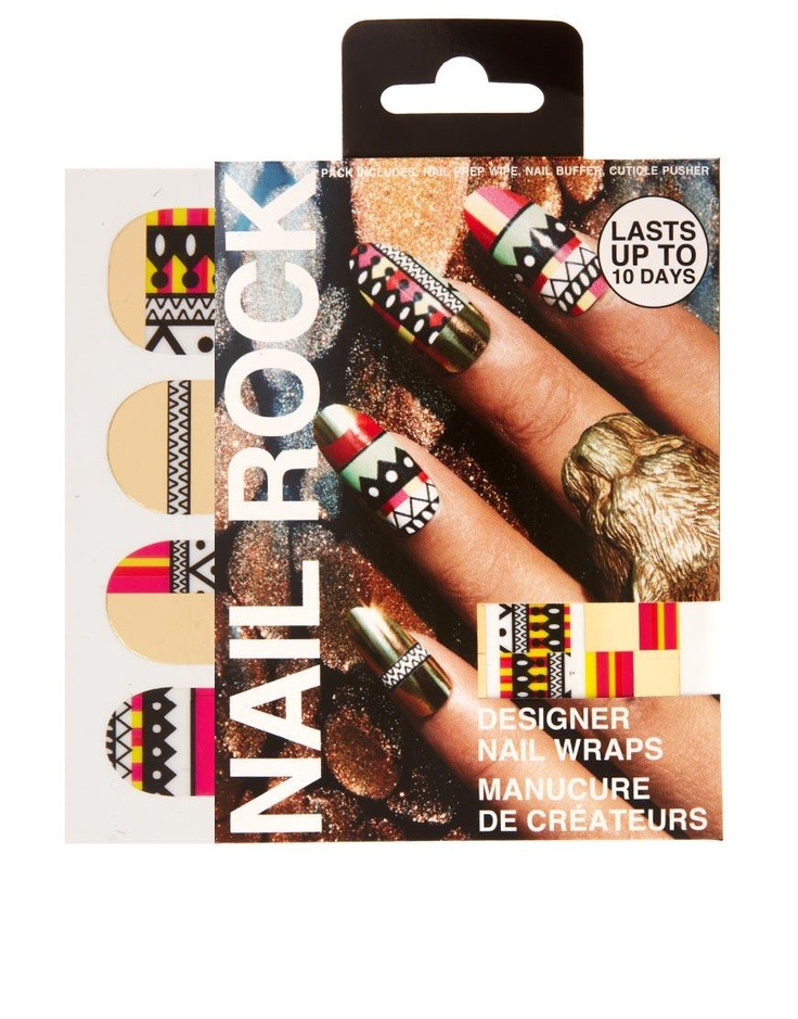 Nail Rock Tribal Print Nail Wraps by Nail Rock. Oh my goodness those are so cool!! Too bad they are 80$!!!