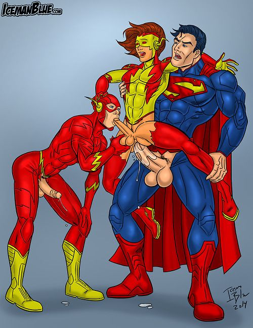 The Flash, Kid Flash, Superman Latest updates on IcemanBlue.com! Open for commissions!