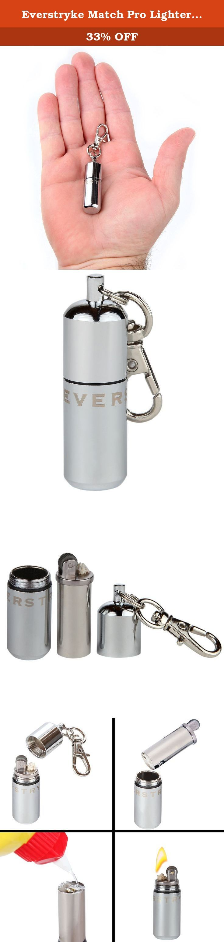 Everstryke Match Pro Lighter - Waterproof Fire Starter Especially for Survival and Emergency Use. This clever tool is an invaluable, possibly life-saving utensil that is equally at home in your wallet, purse, bug-out bag, toolbox, or even the kitchen drawer. The all new design is made out of solid stainless steel, making it even more rough, tough, rugged, and ready for the trail. The improved design holds double the fuel of the original Everstryke match and believe it or not, we've…