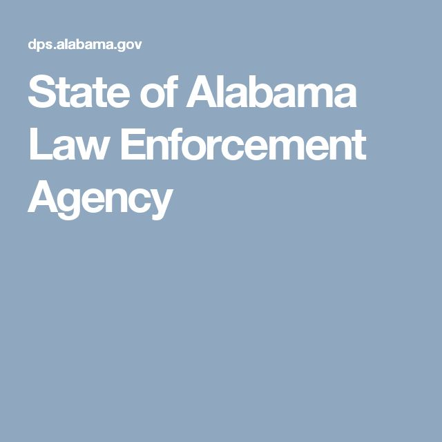 State of Alabama Law Enforcement Agency