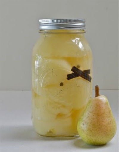 Put Up or Shut Up Pears in Vanilla Syrup
