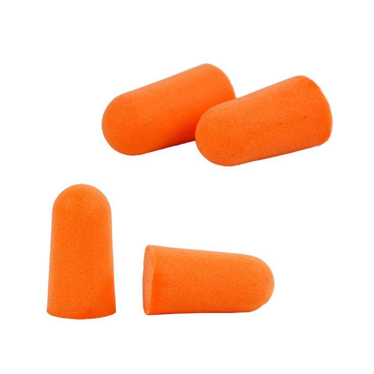 Disposable Tapered Ear Plug Foam Travel Sleep Noise Reducer Orange 10 Pairs