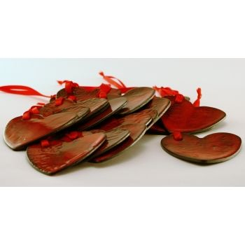 Zawieszki serduszka,ceramika,ceramika, rękodzieło, artystyczna, szkliwo, hand made, prezent, boże narodzenie, ozdoby choinkowe, święta