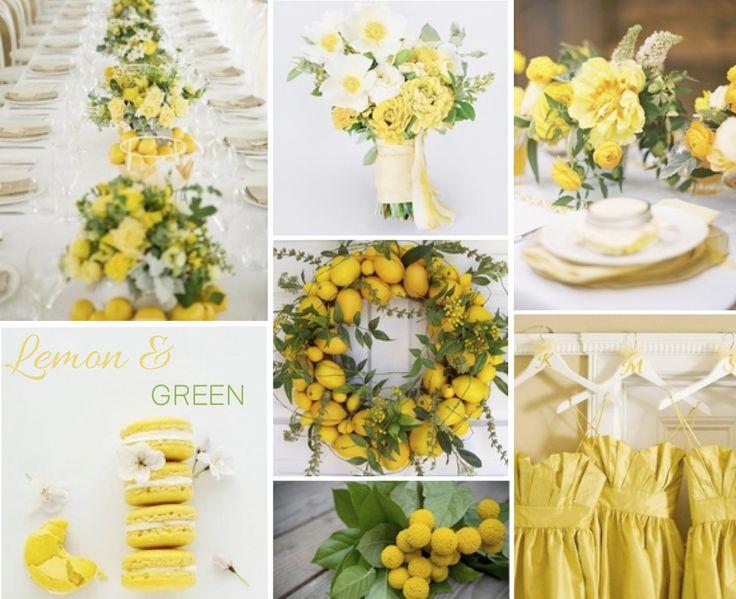 Lemon & Green. Yellow wedding inspiration