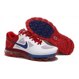 Nike Air Max 2013 Men White Blue Red