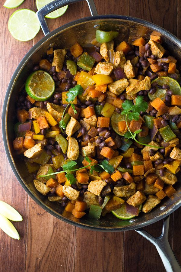 Chili Lime Chicken and Sweet Potato Skillet | Community Post: 25 One-Dish Meals That Aren't Pasta