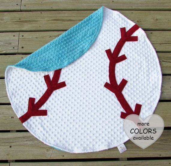 Baseball Baby Blanket Minky Blanket Sports Nursery Decor