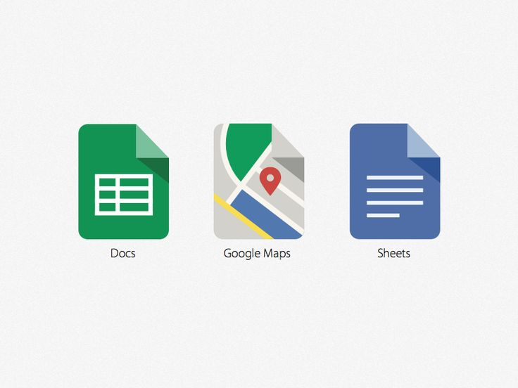 This is my take on the maps icon within in same dogeared page style of Docs and Sheets. If only Google's iOS icons were consistent they could share the same home screen on my iPhone. :)