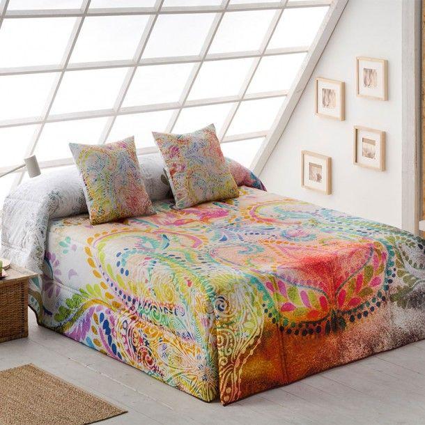 Edredón Conforter OREGON de la firma Sansa. Llena tu habitación de color y alegría con este nuevo diseño donde se aprecia un bonito estampado de colores vivos.