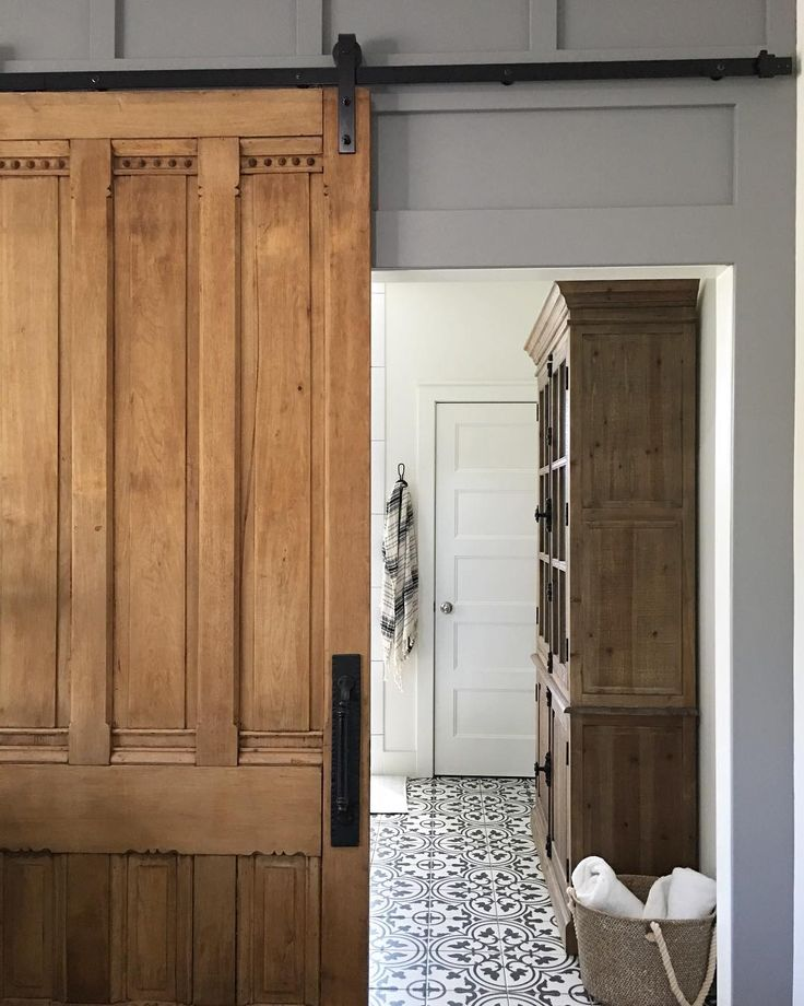 """440 Likes, 39 Comments - Jeannine Dean (@concretecottage) on Instagram: """"Are you guys tired of seeing my antique pocket-door turned barn-door yet? Yeah, me neither!! 😂…"""""""