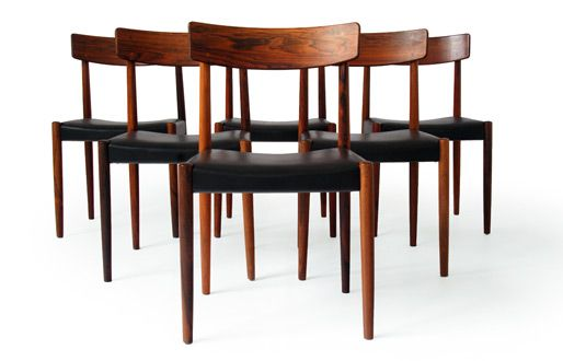 We have similar Trodes of Sweden dining chairs, with black seat pad, will upholster the seats in old tan leather